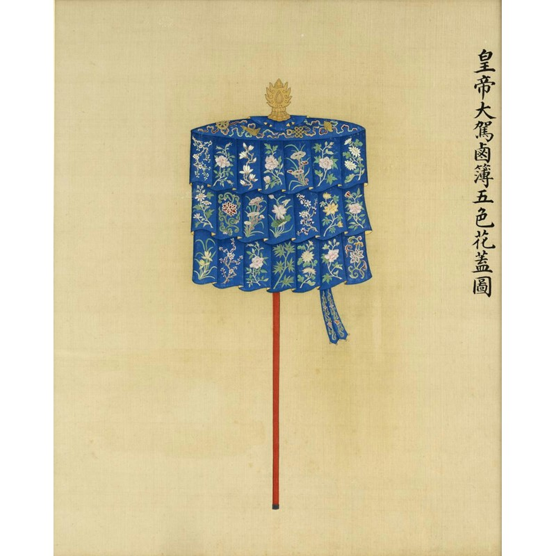 A fine pair of chinese imperial paintings on silk | Woolley