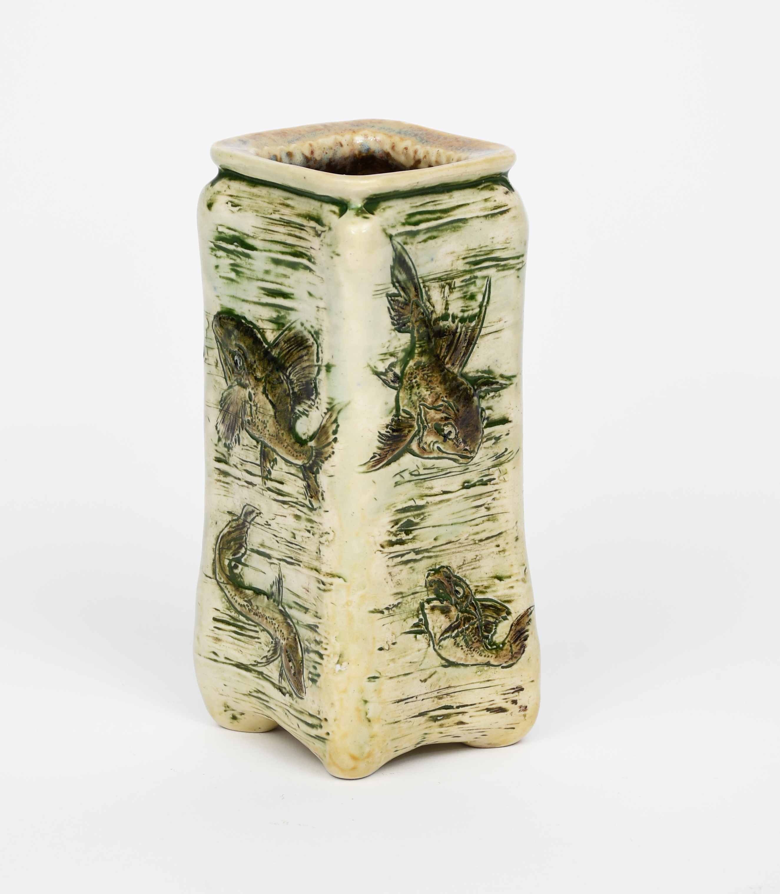 A Martin Brothers stoneware Aquatic vase by Edwin and Walter Martin