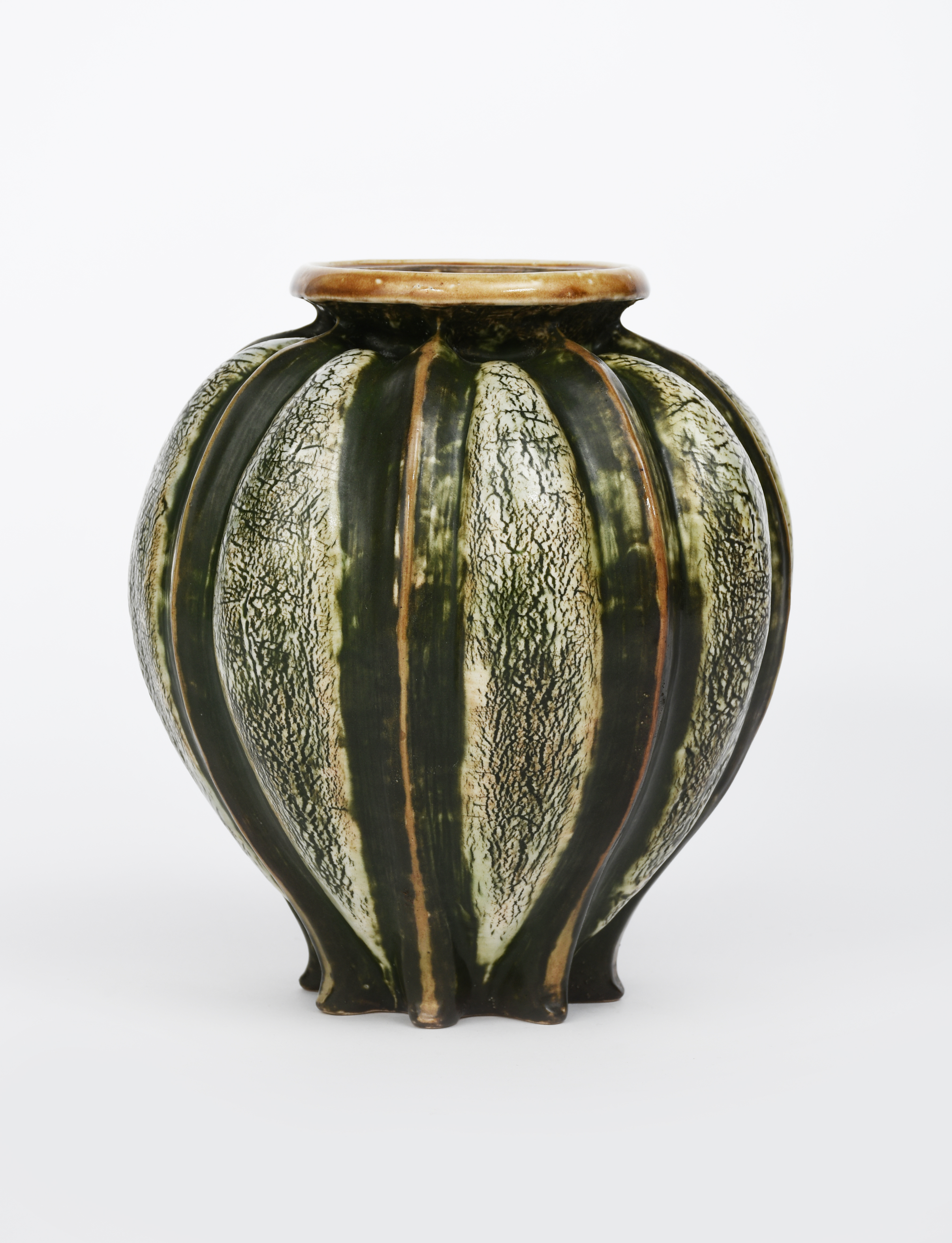 A large Martin Brothers stoneware gourd vase by Edwin and Walter Martin