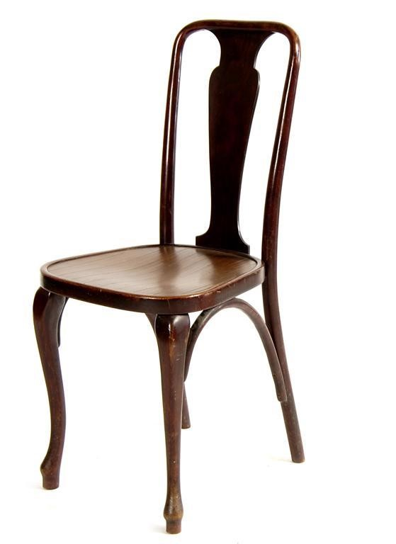 A Thonet Bentwood Chair Applied Paper Label 96cm High