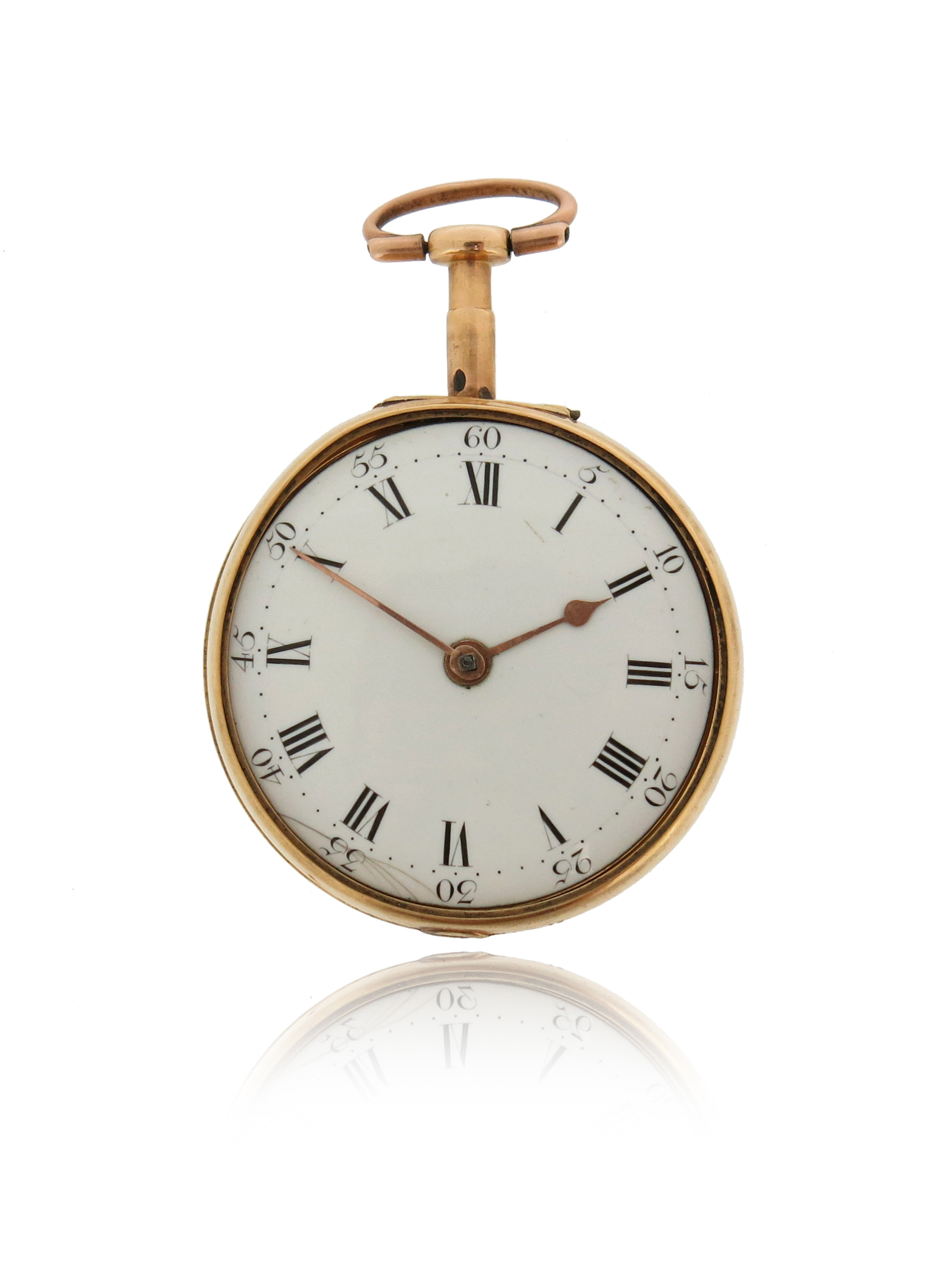 A George III Irish 18ct gold open-faced pocket watch by Sean Houston of Dublin