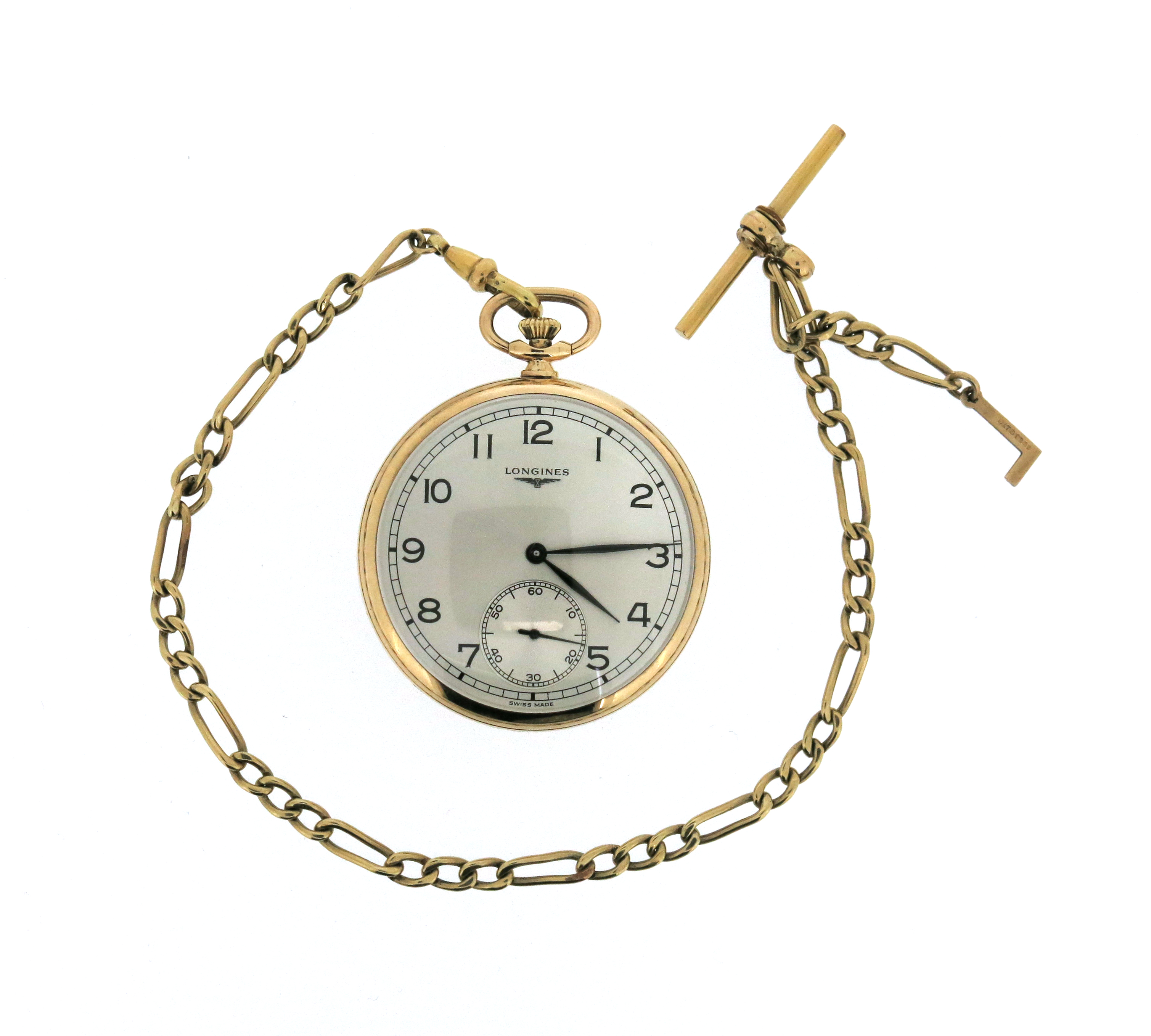 A 9ct gold open-faced pocket watch by Longines