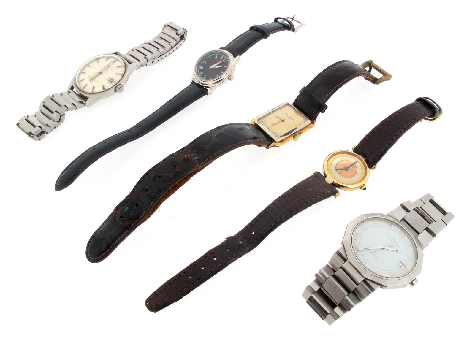 Six assorted wristwatches