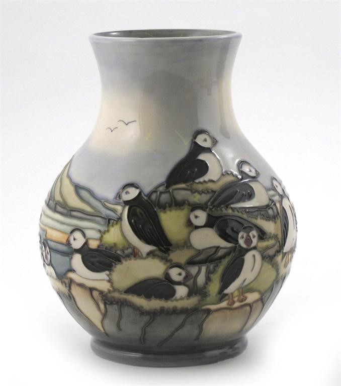 Puffin A Moorcroft Pottery Vase Woolley And Wallis