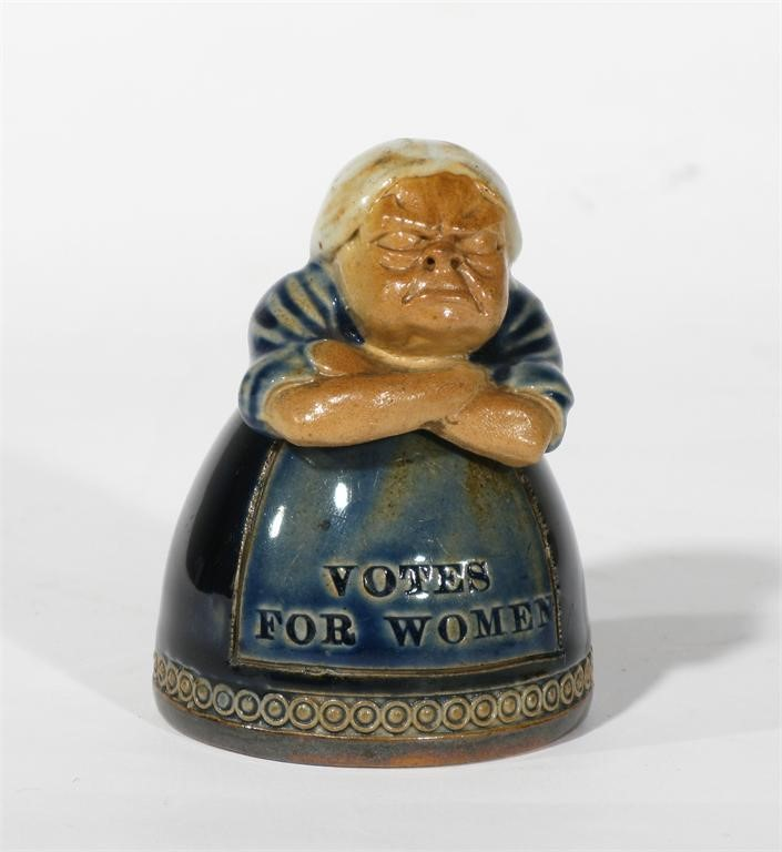 Votes For Women A Rare Royal Doulton Stoneware Suffragette Inkwell