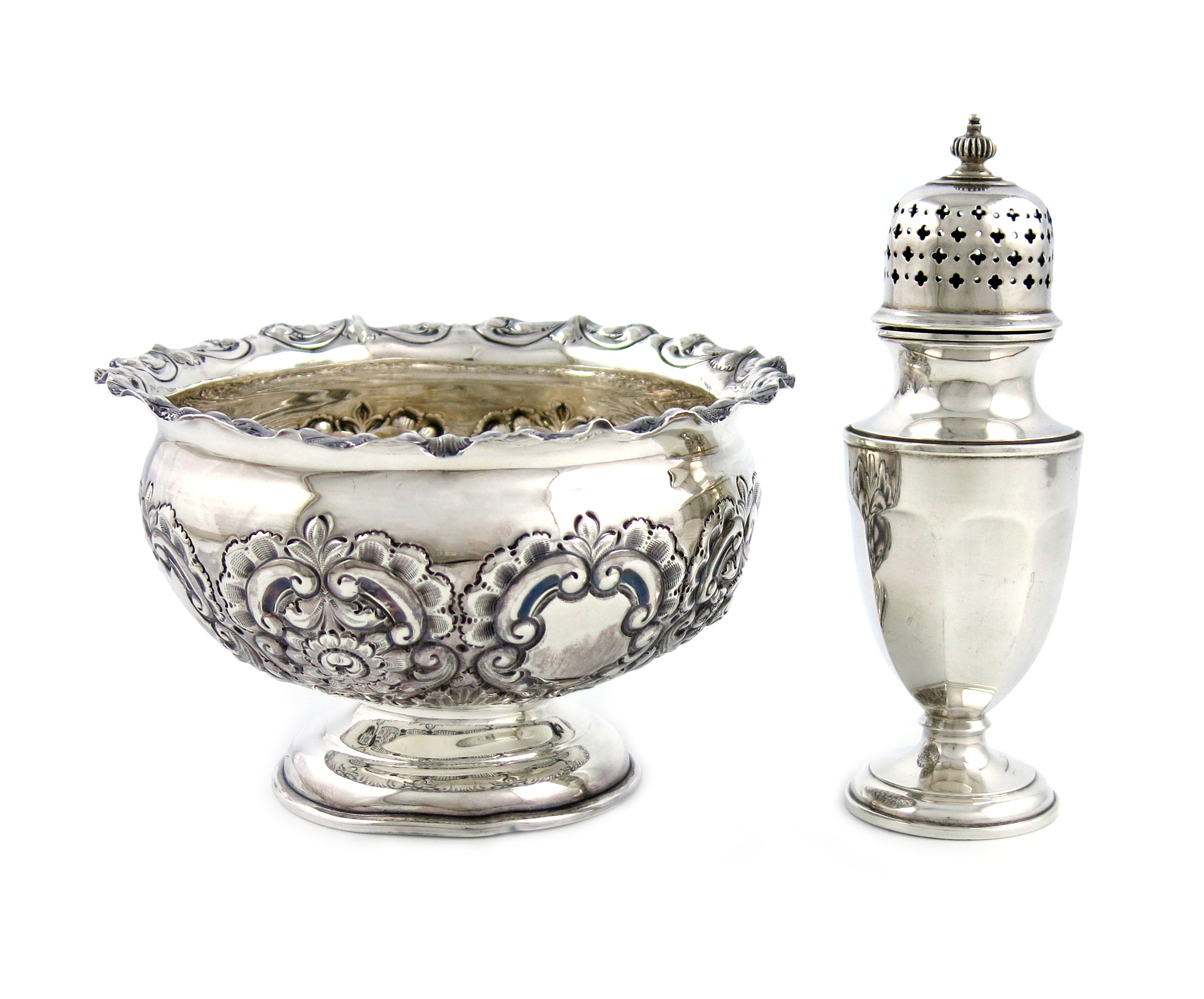 An Edwardian silver bowl
